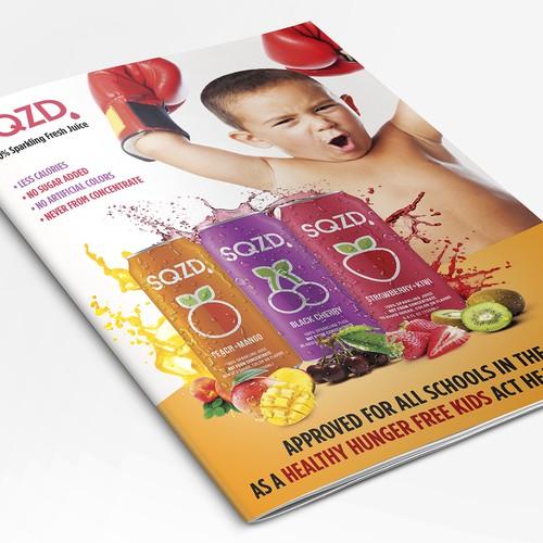 SQZD juice brochure.