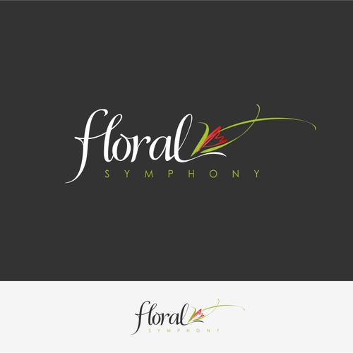 Create an elegant, stylish logo for a premiere flower shop