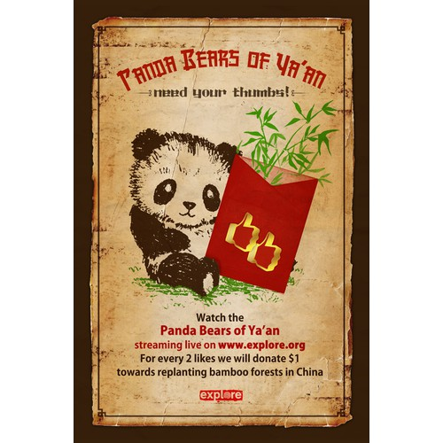 Help explore.org Design a Panda Campaign Poster!