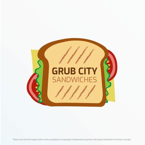 Logo concept for Grub City Sandwiches
