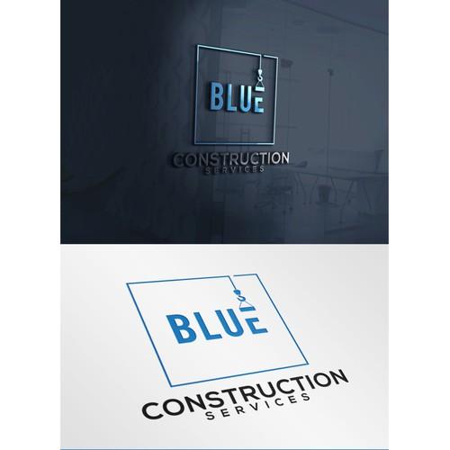 Blue construction