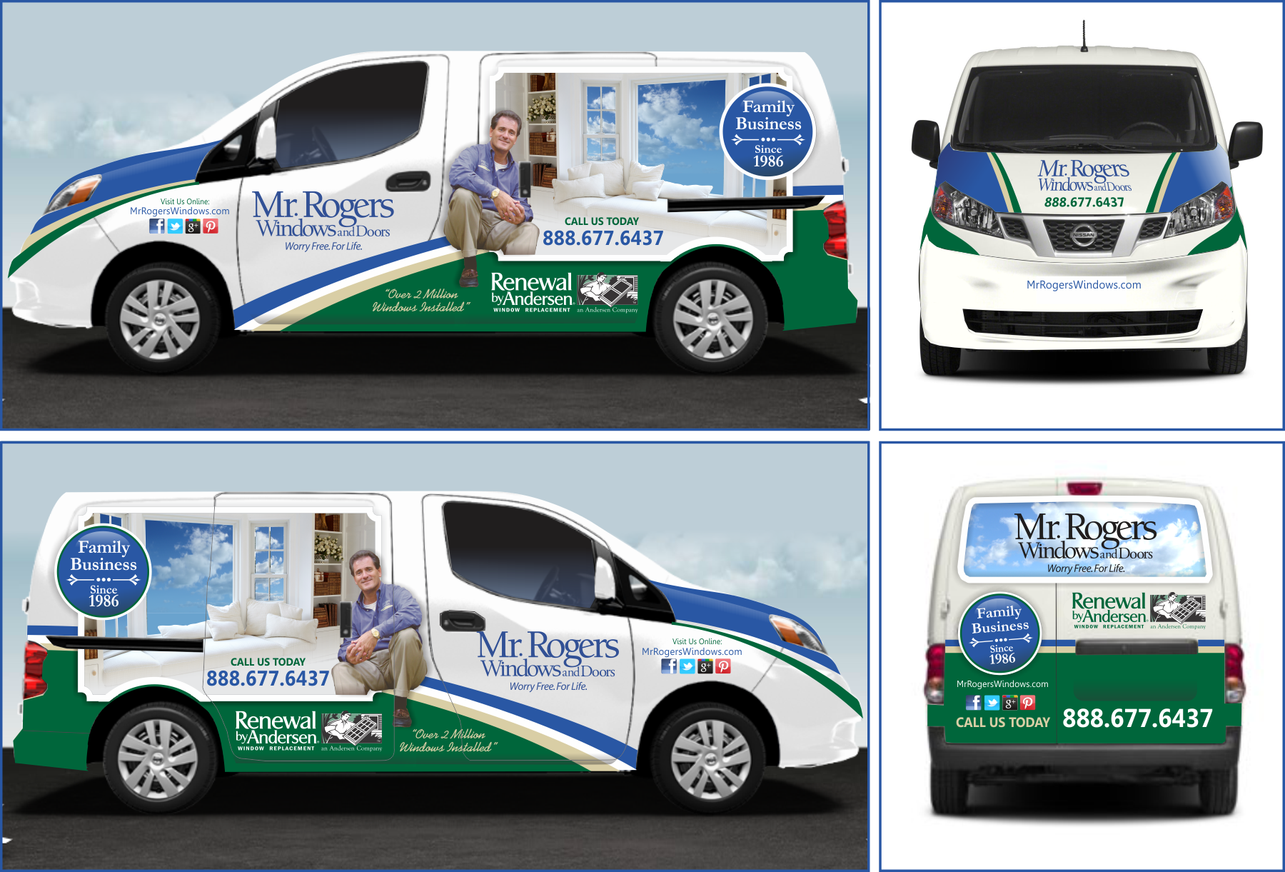 Compelling graphic design to wrap a commercial van