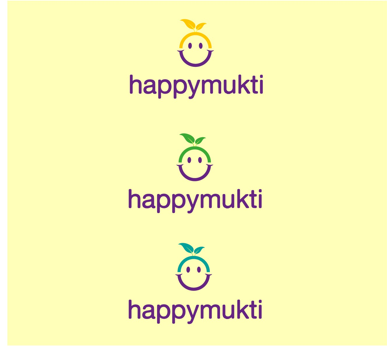 logo for happymukti (all lowercase)