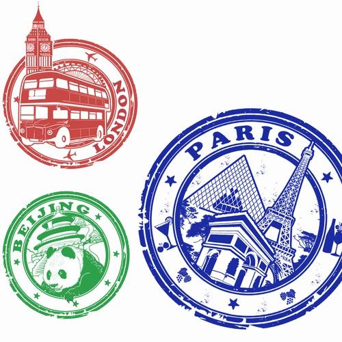 stiker stamp