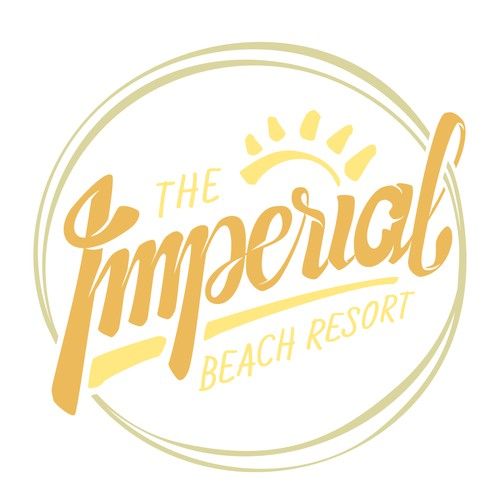 Hand-lettering logo for beach resort