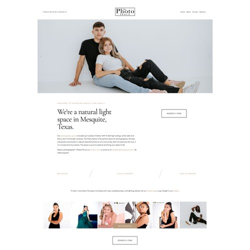 """""""Website in a Day"""" for a Photography Studio"""