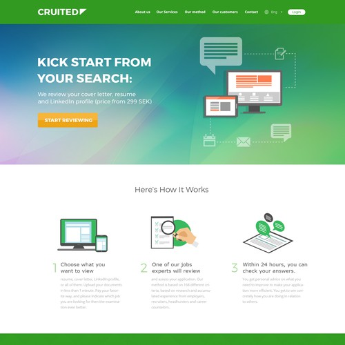 Responsive Website for Job Application