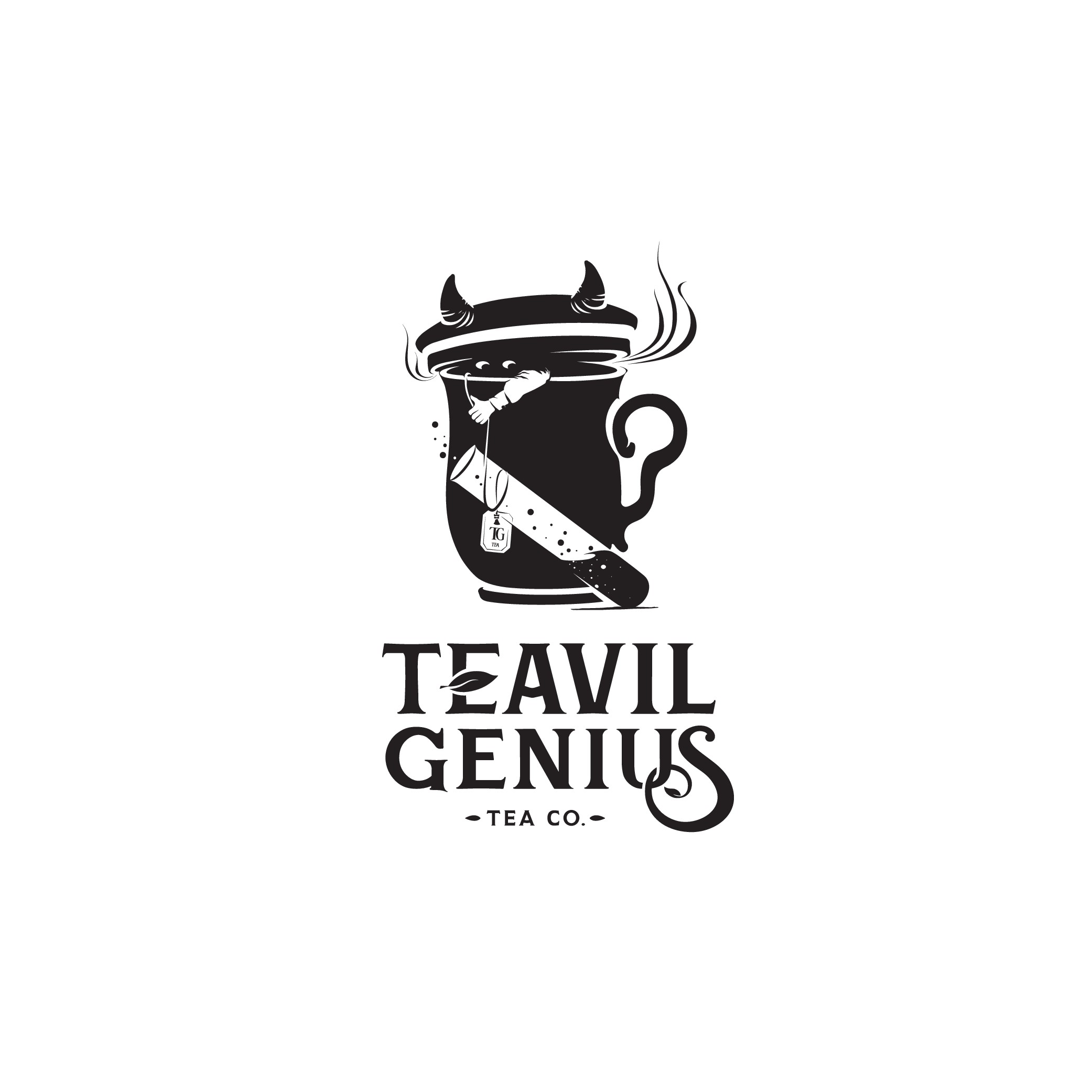 Teavil Genius, an offbeat tea company, needs a logo