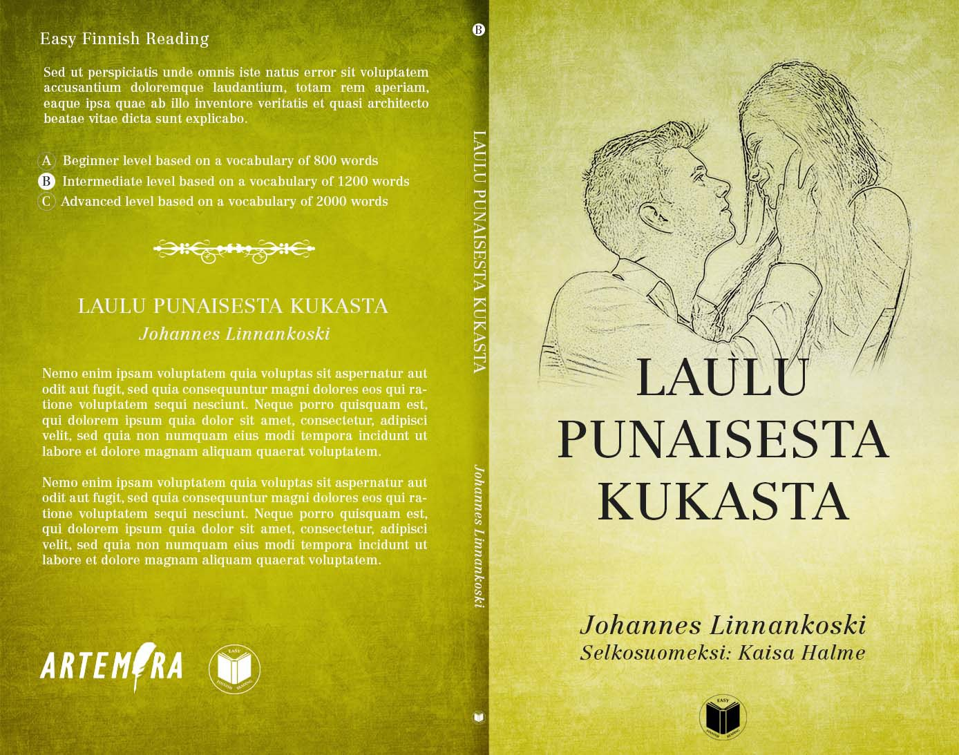 Book cover template for a series of easy reader language books
