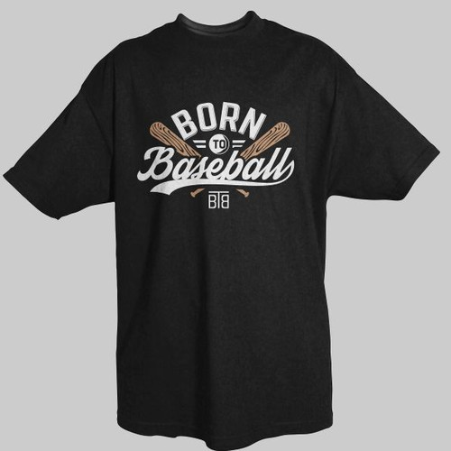 Create a Modern BORN TO BASEBALL Tee Shirt Design