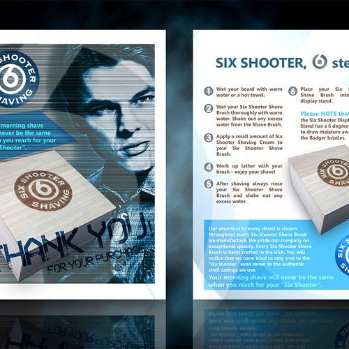 New postcard or flyer wanted for Six Shooter Shaving
