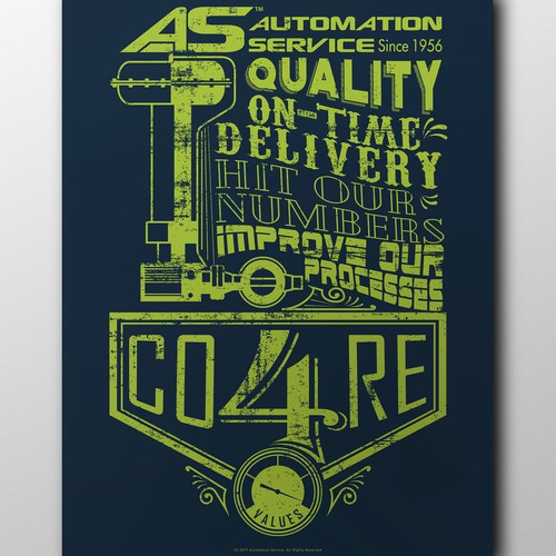 Industrial poster design