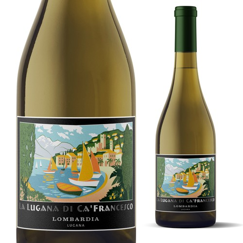 Label for Italian wine La Lugana De Ca'Fancesco