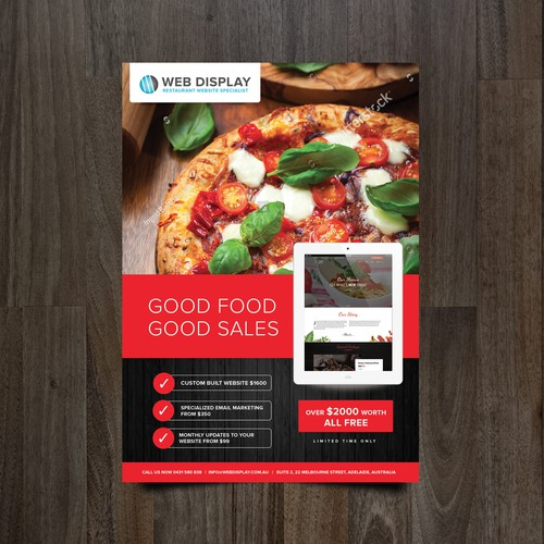 Restaurant website specialist flyer design