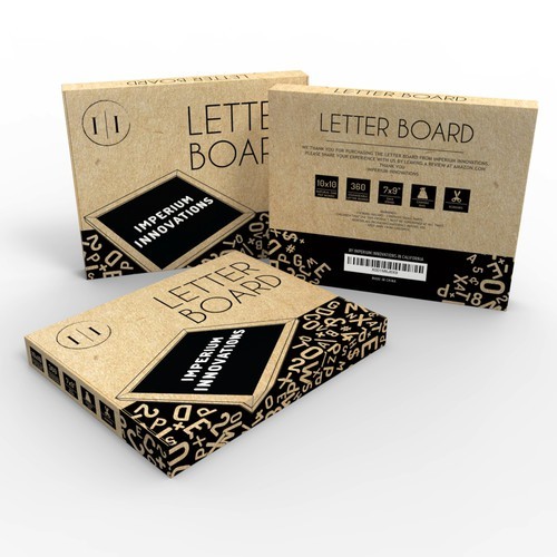 Letter Board Packaging by Imperium Innovations