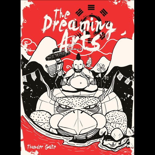 The dreaming arts cover book design