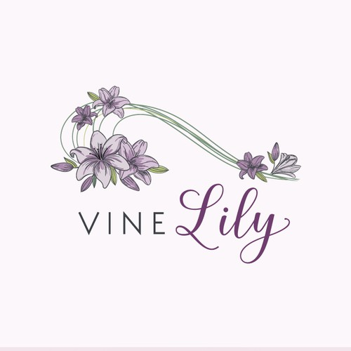 A hand-crafted logo for a Celebrity Florist Shop