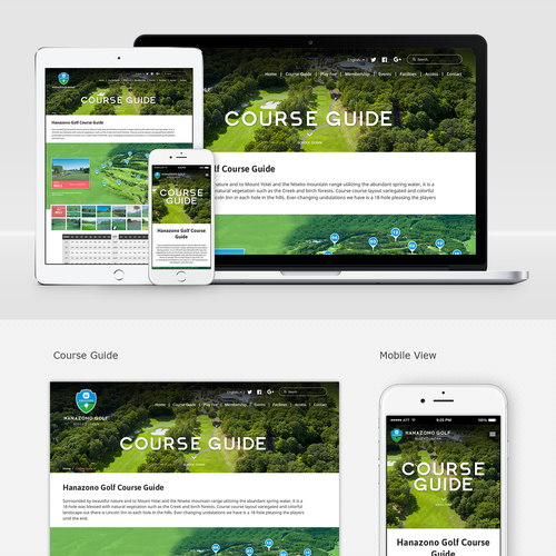 Responsive Golf Course Website