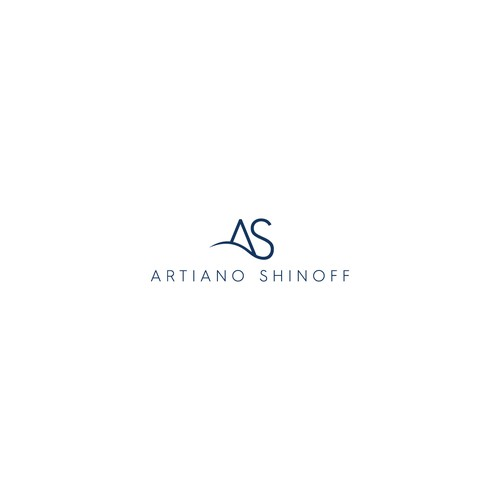 Minimal logo for a law firm