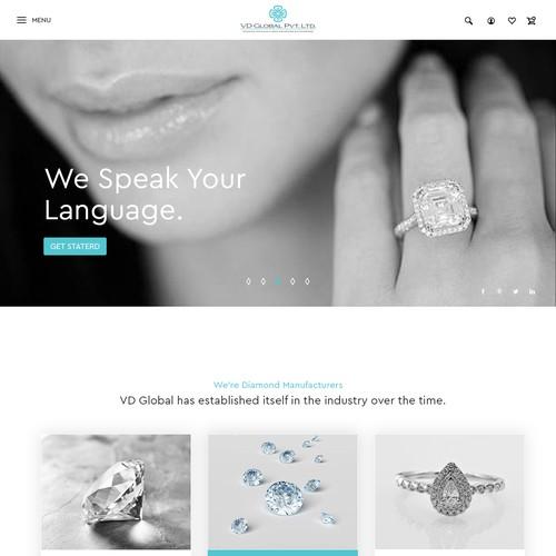 modern Dimond & jewelry webpage design
