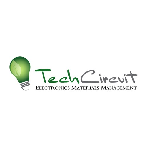 Logo Design for TechCircuit - An Electronics Recycling Company - Think Environmental Friendly