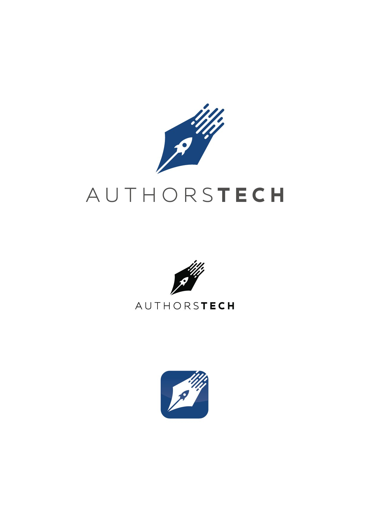 Create a captivating logo for a new website for authors!