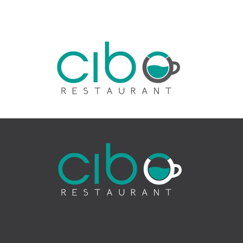 Coffe themed restaurant logo