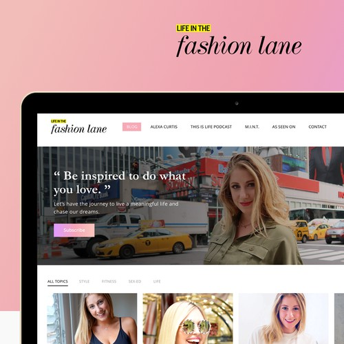 Life In Fashion Lane Homepage Design