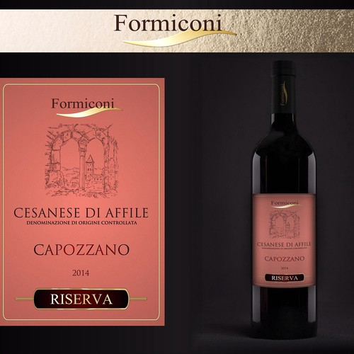 CAPOZZANO WINE LABEL RESTYLING