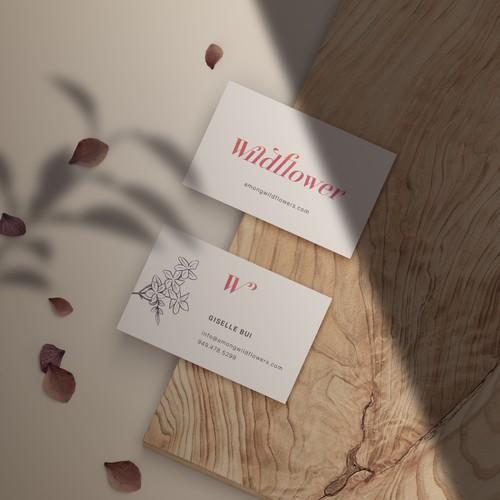 Wildflower / logo / b.card