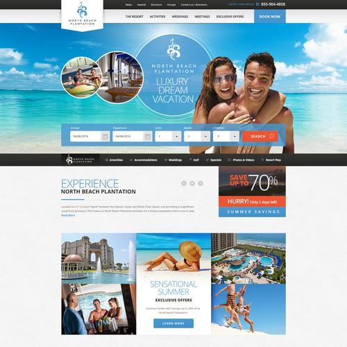 Luxury resort web design