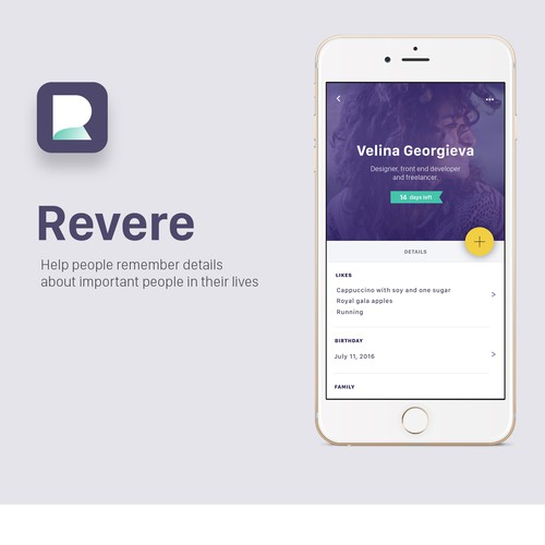 Design for Revere app.