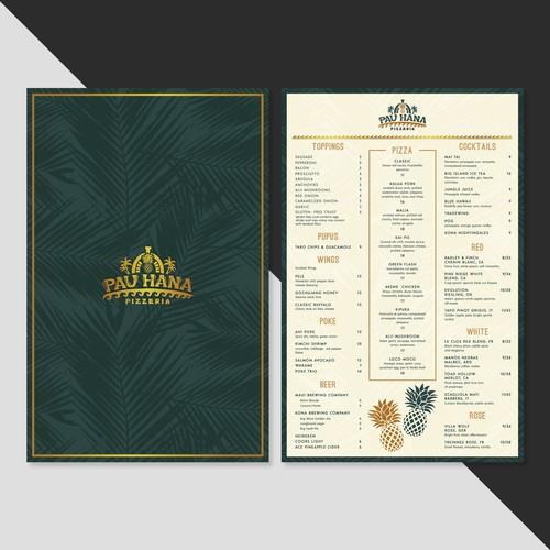One Side Hawaiian menu