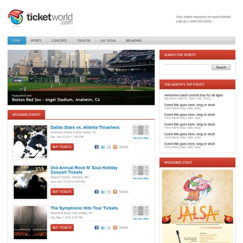 New Ticket Website