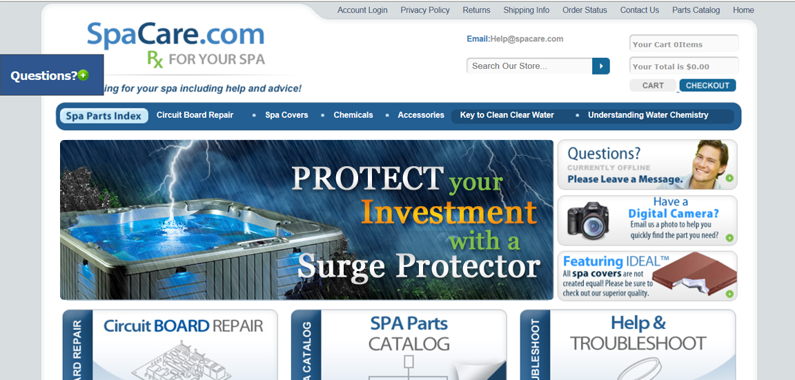 Spa Care Center needs a new banner ad