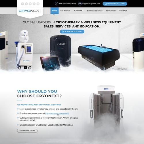 Creative Hightech Looking Website