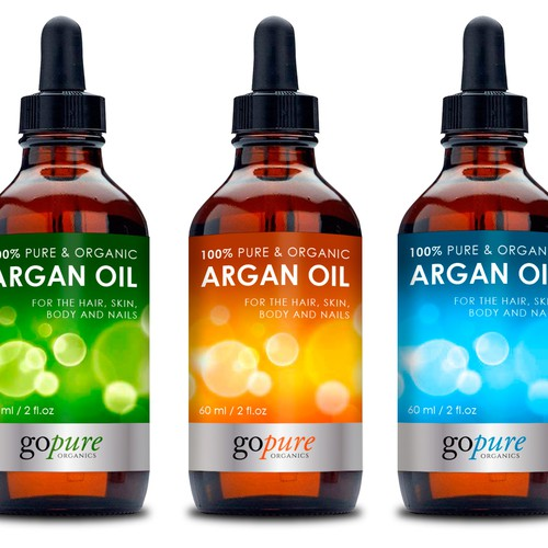 Eye-popping Label for Argan Oil