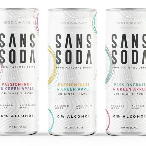 Sans Soda Label