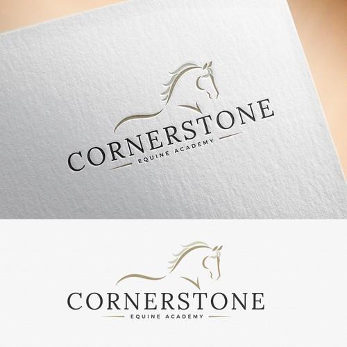 Winning Logo for Cornerstone Equine Academy