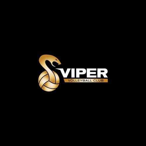 Logo Design for Viper Volleyball Club