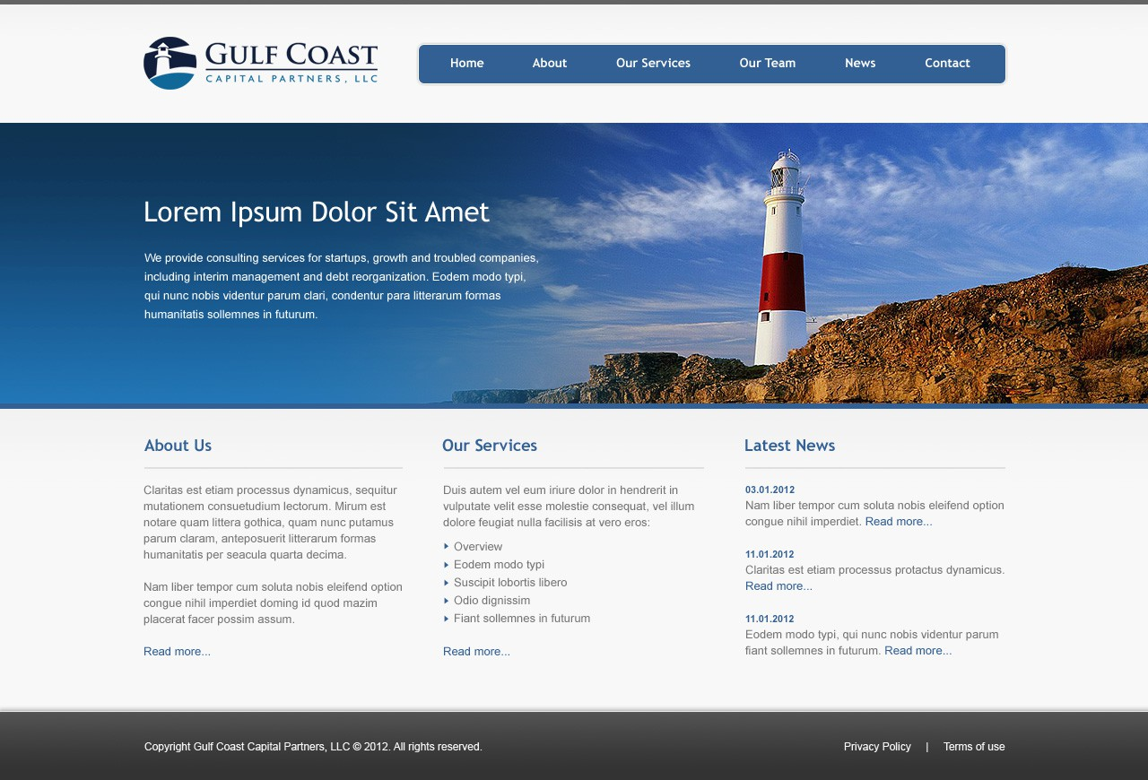 GCCP website design (home & inner page)