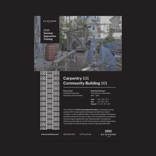 Ecotone Summer Program Poster
