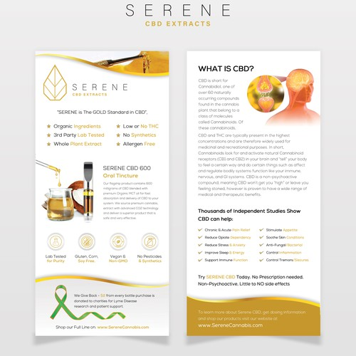 SERENE CBD Flyer Design