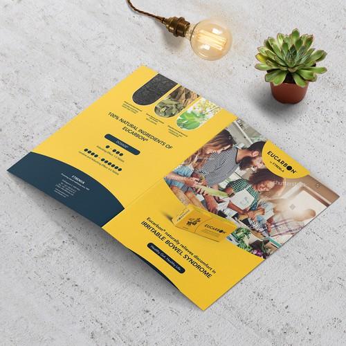 Modern Flat Bifold Brochure Concept for F. Trenka