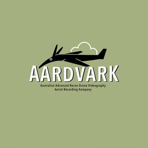 Aardvark drone logo design