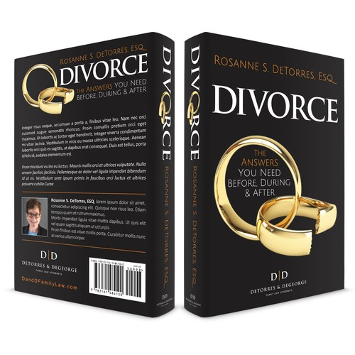 Book Cover Design concept for DIVORCE