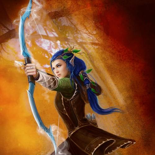 fantasy illustration- Elf archer