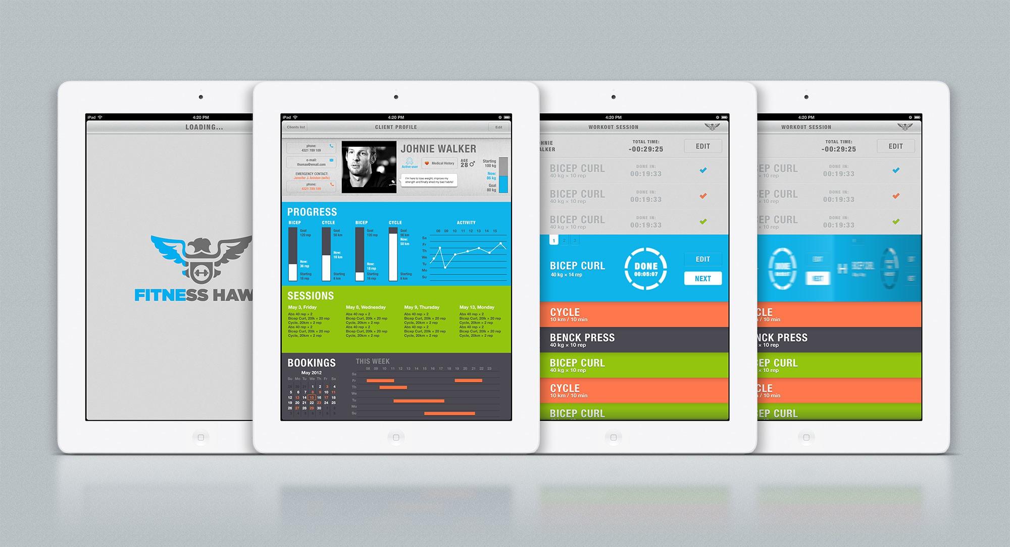 Personal Trainer iPad Design