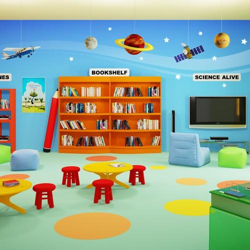 Readorium needs a fun illustration for a brand new reading comprehension web app