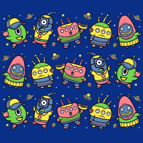 Cute Alien pattern